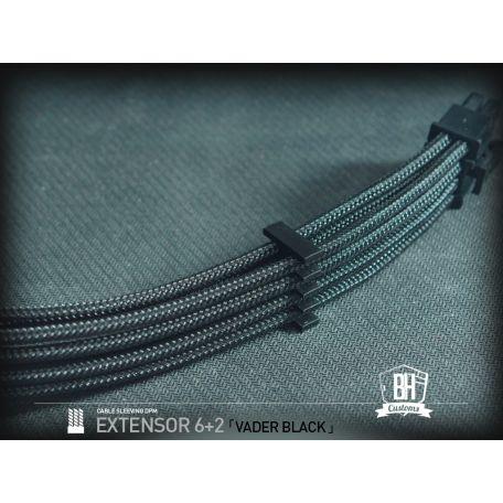 BHCustoms extensor PCIe 6+2 pins M/F Negro
