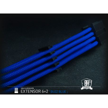 BHCustoms extensor PCIe 6+2 pins M/F Azul