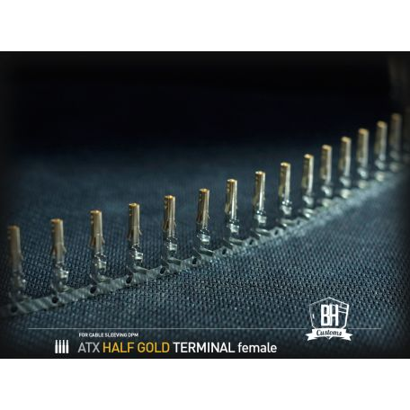 Terminales ATX ORO BH Customs - hembra (5 unidades)