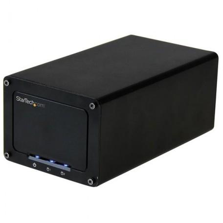 """Startech Carcasa 2,5"""" Doble Bahía USB 3.1"""