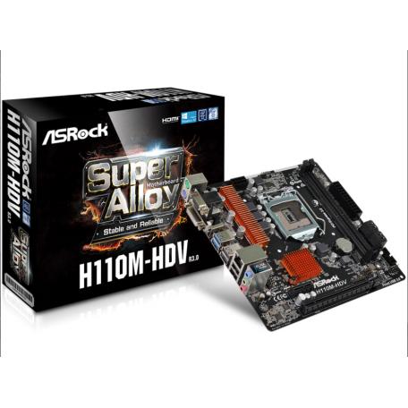 Asrock H110M-HDV Rev 3.0