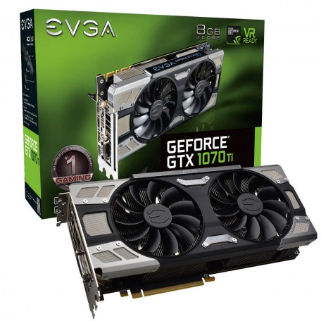EVGA GeForce GTX 1070 Ti FTW Ultra Silent Gaming 8GB GDDR5
