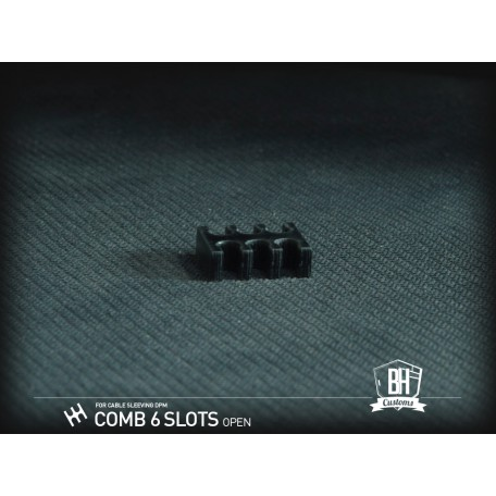 BH Custom cable comb abierto 6 slots negro