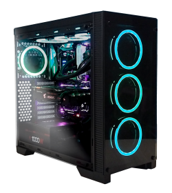 Abysm Gaming Ebony Tempered Glass RGB
