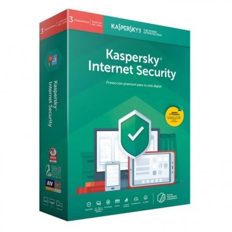 Kaspersky Internet Security 2019 3 Licencias 1 Año