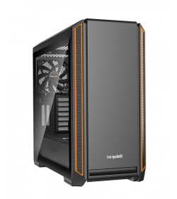 Be Quiet! Silent Base 601 Cristal Templado Naranja