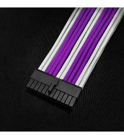 BH Customs Extensor ATX 24 Pin 30cm Blanco/Púrpura