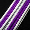 BH Customs Extensor 8 Pin PCIe 45cm Blanco/Púrpura