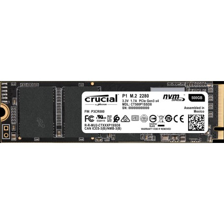 Crucial P1 500GB SSD M.2 NVMe PCIe