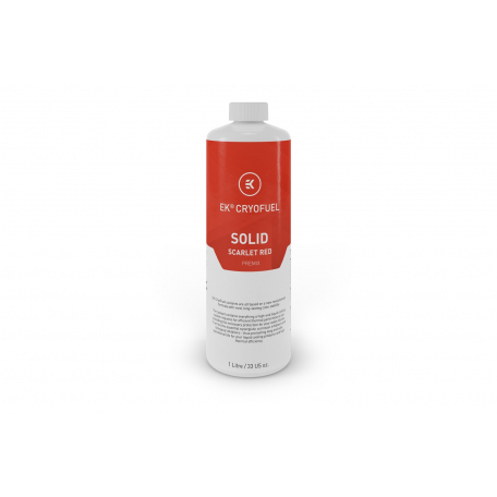 EKWB EK-CryoFuel Premix Rojo Escarlata Sólido 1000ml