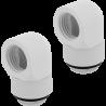 Corsair Hydro X Series 90º Rotary Blanco Conector Pack 2
