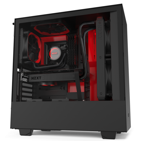 NZXT H510i Negro Mate/Rojo