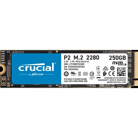 Crucial P2 500GB SSD M.2 NVMe PCIe