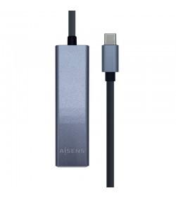 Aisens A109-0396 Hub USB-C 3 Puertos USB A +  Ethernet
