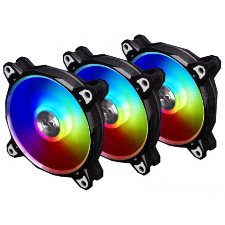 Lian Li BR120 RGB 120mm Triple Pack + Controlador Black