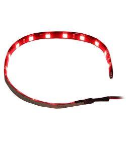 Silverstone LS01R. Cinta 15 Leds Roja 30cm